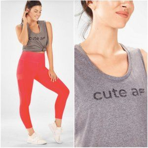 Fabletics Janis sleeveless Cute AF muscle tank top